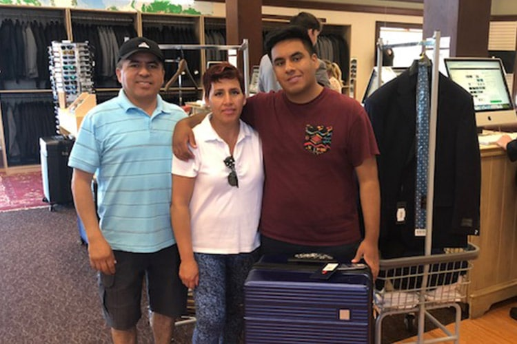 grateful missionary shopping with his parents