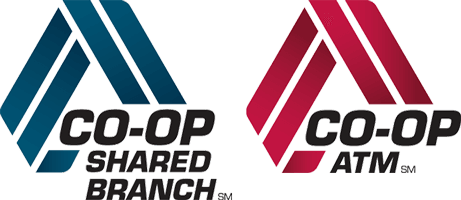 CO-OP Shared Branch and CO-OP ATM logos