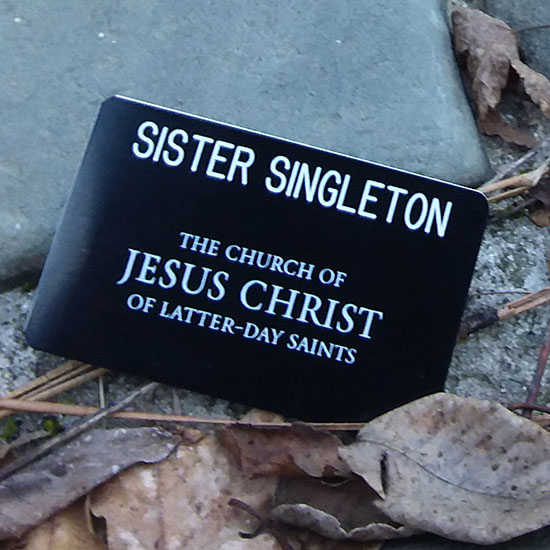 missionary tag for The Church of Jesus Christ of Latter-day Saints