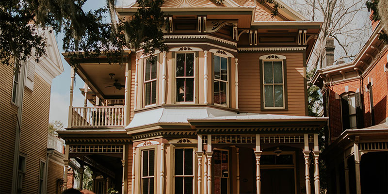 exterior of a southern victorian home