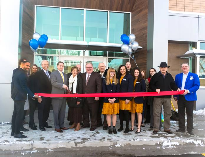 Taylorsville branch, exterior ribbon cutting