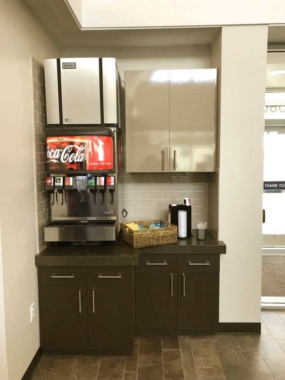 Soda Machine at the Murray branch